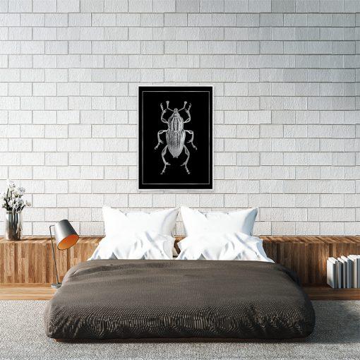 Plakat srebrny do sypialni