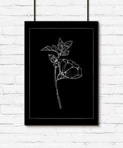 Plakat ze wzorem kwiatu