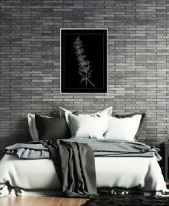 Posrebrzany plakat do sypialni