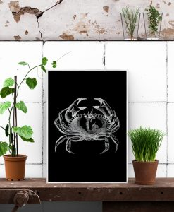 Plakat z motywem kraba