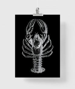 Plakat metaliczny z srebrnym wzorem
