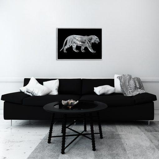 Plakat z tygrysem do salonu