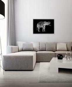 Srebrny plakat do salonu