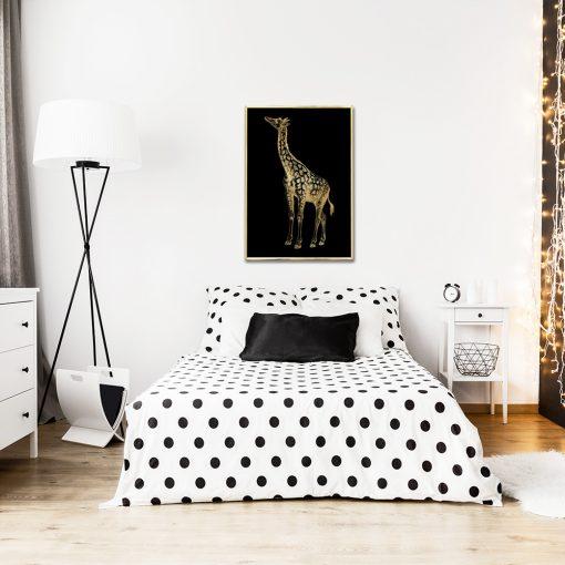 pionowy plakat z motywem żyrafki