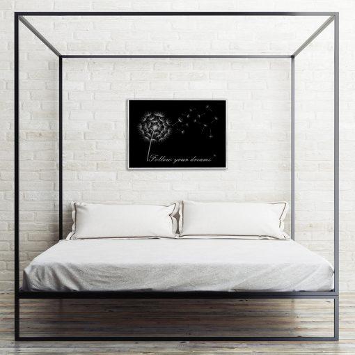 Motywacyjny plakat do sypialni