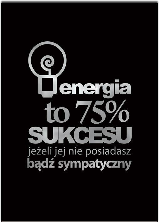 Metaliczny plakat motywacyjny