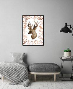Plakat boho na ścianę do salonu