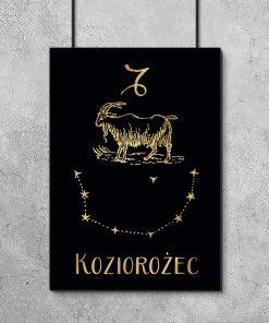 Plakat jak złoto z zodiakiem