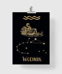 Złoty plakat do dekoracji sypialni