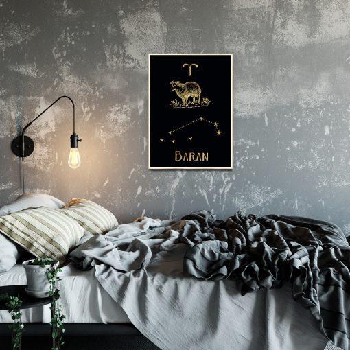 Złoty plakat do sypialni