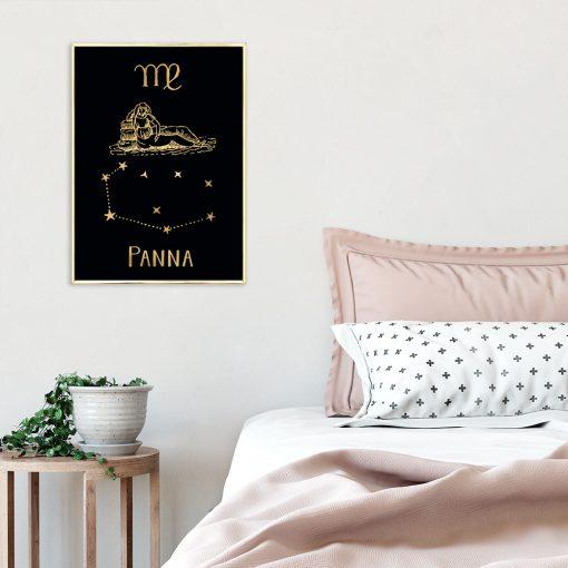 Plakat z zodiakiem panny do sypialni