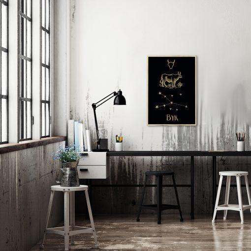 Plakat jak złoto do dekoracji biura