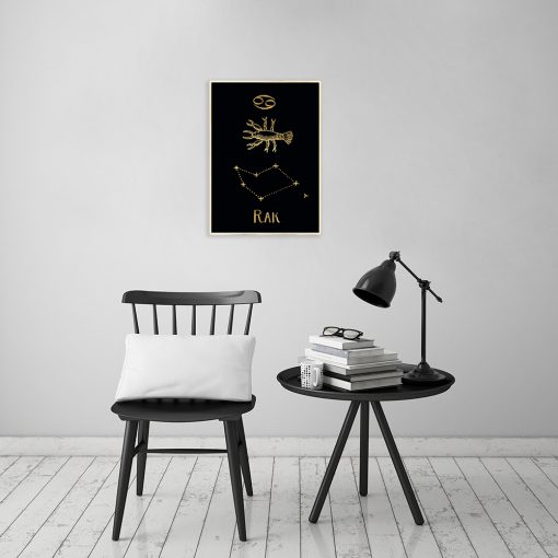Plakat z zodiakiem raka do salonu