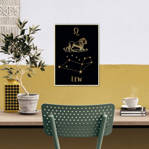 Metaliczny plakat do biura