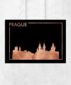 Plakat na ścianę w kolorze czarno-miedzianym