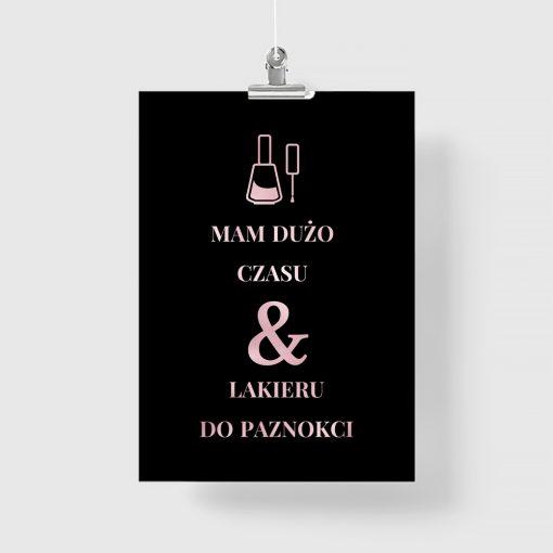 Metaliczny plakat dla kosmetyczek