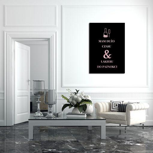 Plakat rose gold do salonu kosmetycznego