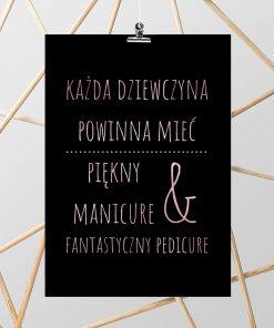 Różowo złoty plakat do salonu kosmetycznego