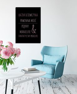Plakat rose gold do studia urody