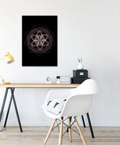 Różowo-złoty plakat do biura