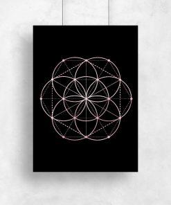 Geometryczny plakat do sypialni