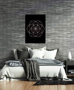Plakat z motywem różowego złota do sypialni