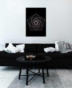 Plakat różowo-złoty do dekoracji sypialni