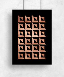 Plakat miedziany z abstrakcją