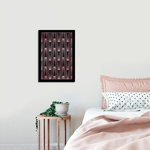 Geometryczny plakat ze wzorem w kolorze różowego złota