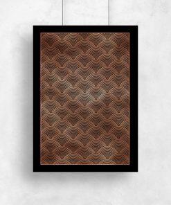 Plakat z geometrycznym wzorem