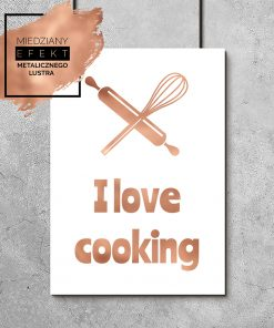 plakat i love cooking