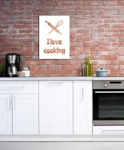 Plakat miedziany do dekoracji kuchni