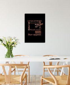 Plakat metaliczny do dekoracji kuchni
