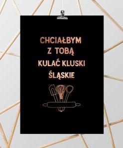 Metaliczny plakat do kuchni