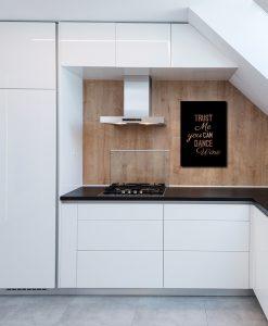 Plakat z napisem do kuchni