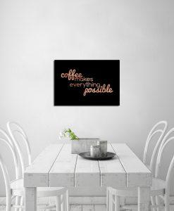 Miedziany plakat do ozdoby kuchni