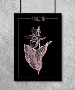 Plakat metaliczny z motywem kwiatu