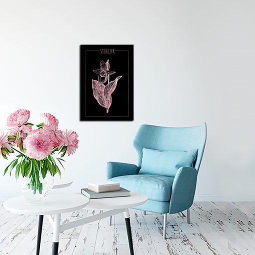 Plakat ze storczykiem do salonu
