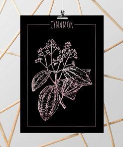 Plakat czarny z elementami rose gold