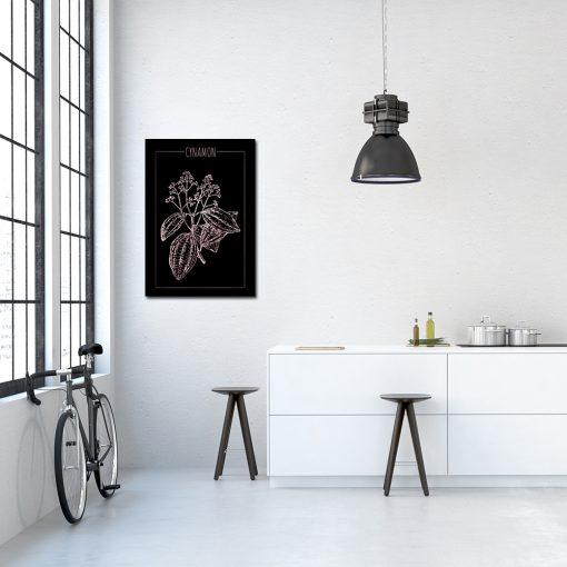 Plakat w kolorze różowego złota do kuchni
