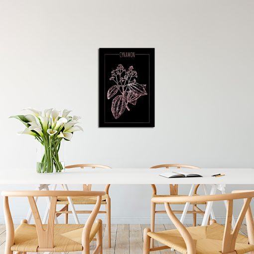 Plakat z motywem cynamonu do kuchni