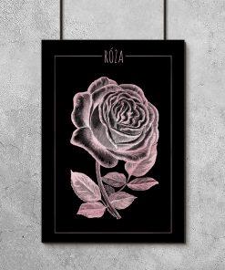 Plakat w kolorze różowego złota