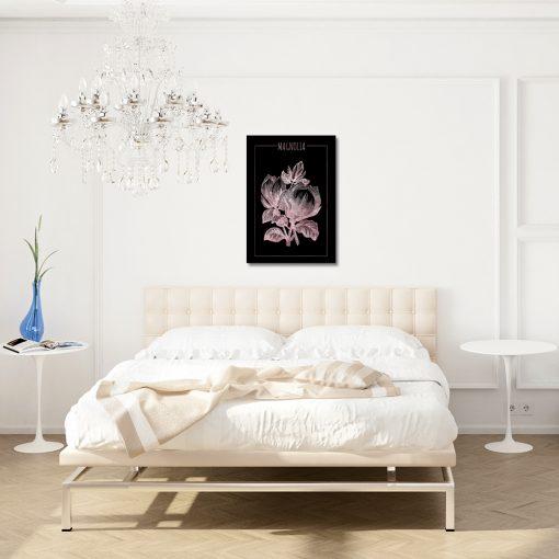 Różowo-złoty plakat do salonu