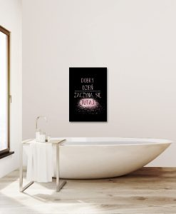 Plakat różowo-złoty do łazienki