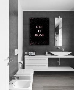 Plakat rose gold do łazienki