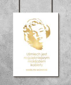 Złoty plakat typograficzny