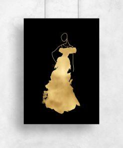 Plakat ze złotym nadrukiem