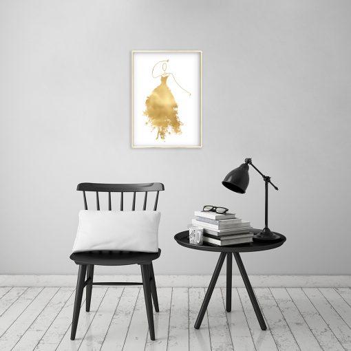 Złoty plakat do salonu