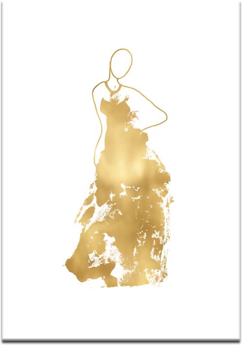 Plakat z metalicznym wzorem kobiety