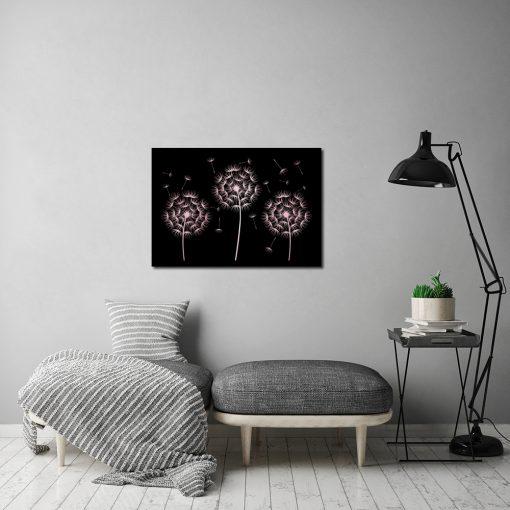Plakat złoto-różowy do salonu